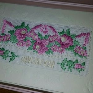 Simply Shabby Chic Party Supplies - 22 embroidered invitation cards